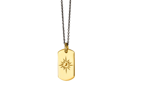 MOONLIGHT mini tag goldplated silver pendant