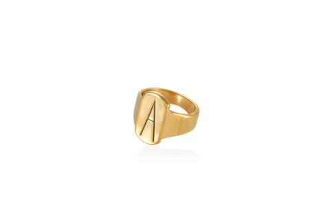 A mini signet ring goldplated silver