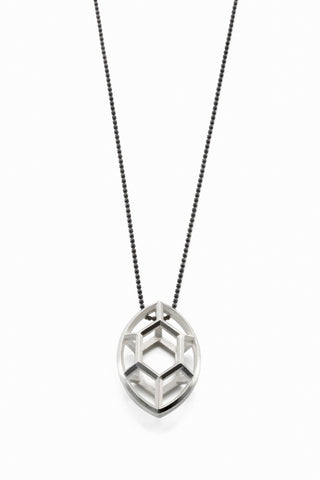 Navette | large silver pendant