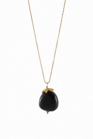 acorn pendant | ebony wood