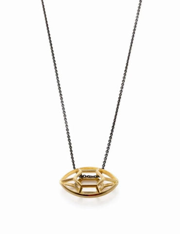 Navette | small goldplated silver pendant