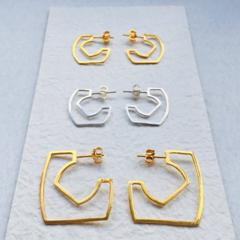 Outline Hoop Earrings Large