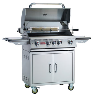 "Angus 4 Burner 30"" Stainless Steel Gas Grill Cart Liquid Propane"