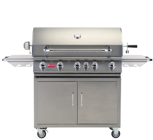 "Brahma 5 Burner 38"" Stainless Steel Gas Grill Cart Liquid Propane"