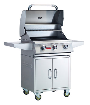 "Steer 4 Burner 24"" Stainless Steel Gas Grill Cart Liquid Propane"