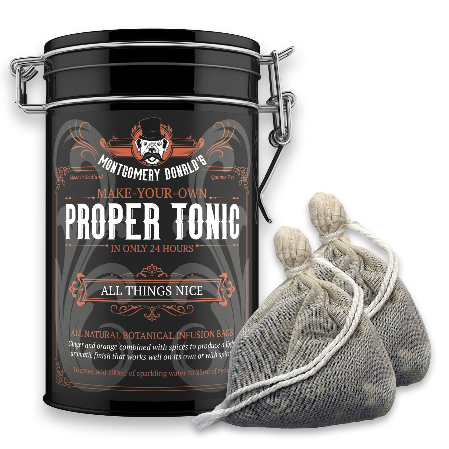 All Things Nice Proper Tonic Bags - 2 Bag Gift Caddy