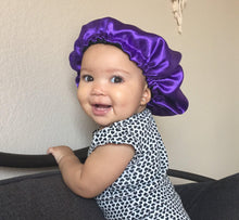 Load image into Gallery viewer, Curly Boo Child Satin Bonnet - Curly Boo