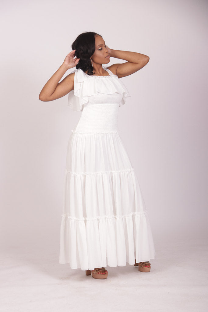 Lemonade Maxi Dress (White)