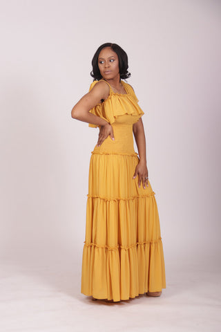 Lemonade Maxi Dress (Mustard)