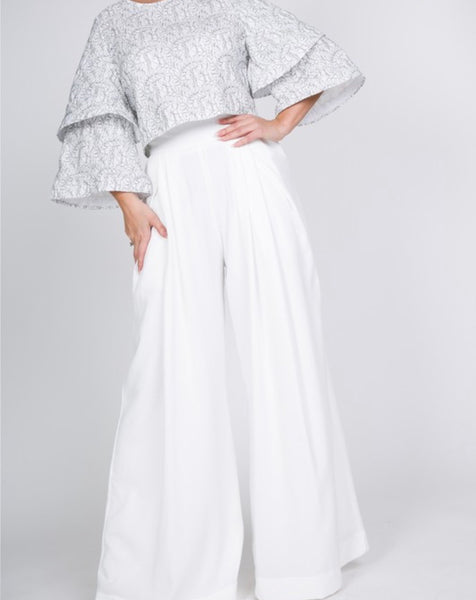 Bell Slacks (White)