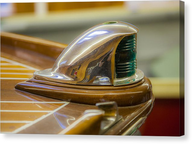 Vintage Century Boat Bow Light - Canvas Print