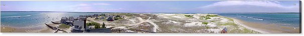 360 Panorama Of Sandy Neck - Acrylic Print