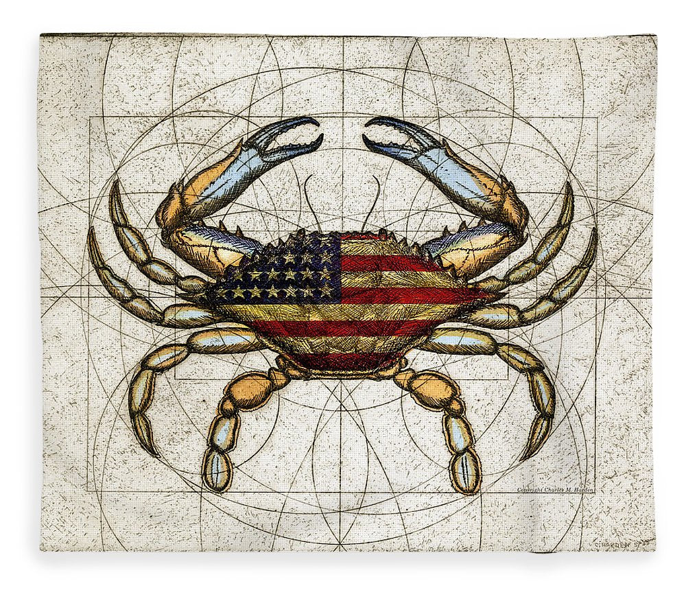 4th Of July Crab - Blanket