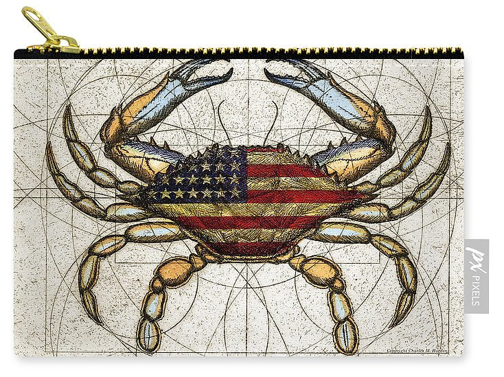 4th Of July Crab - Carry-All Pouch