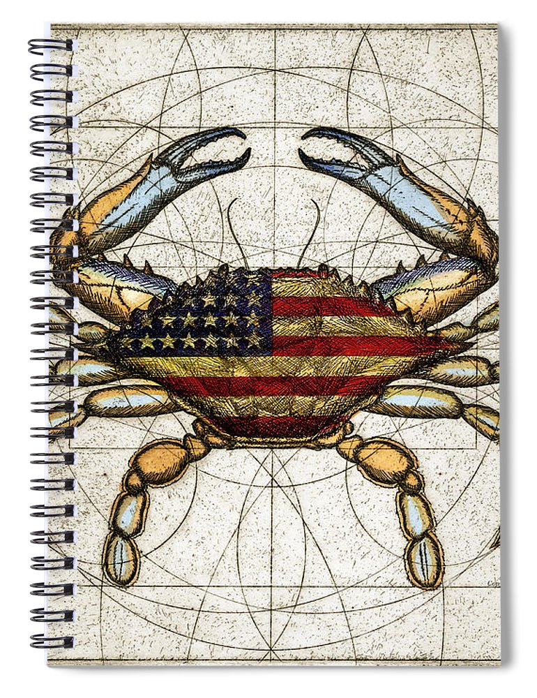 4th Of July Crab - Spiral Notebook