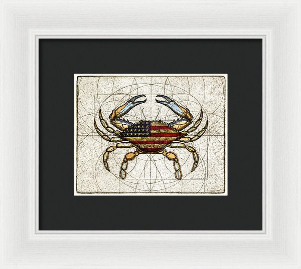 4th Of July Crab - Framed Print