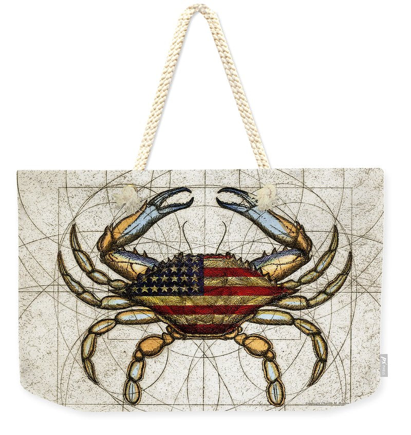 4th Of July Crab - Weekender Tote Bag