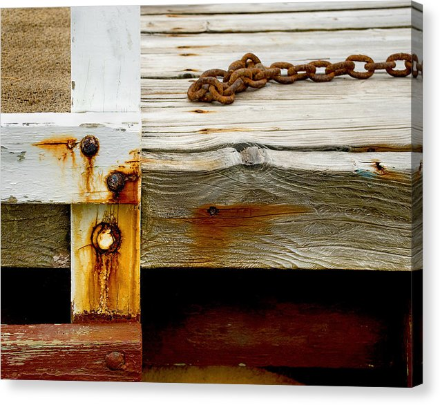 Abstract Dock - Canvas Print