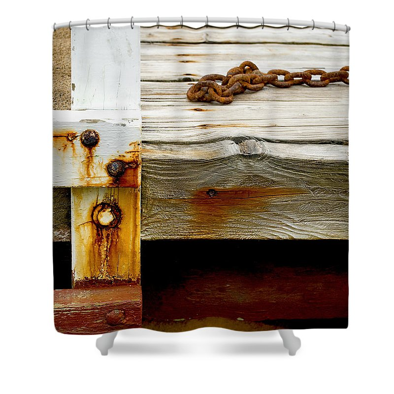 Abstract Old Swim Dock - Shower Curtain