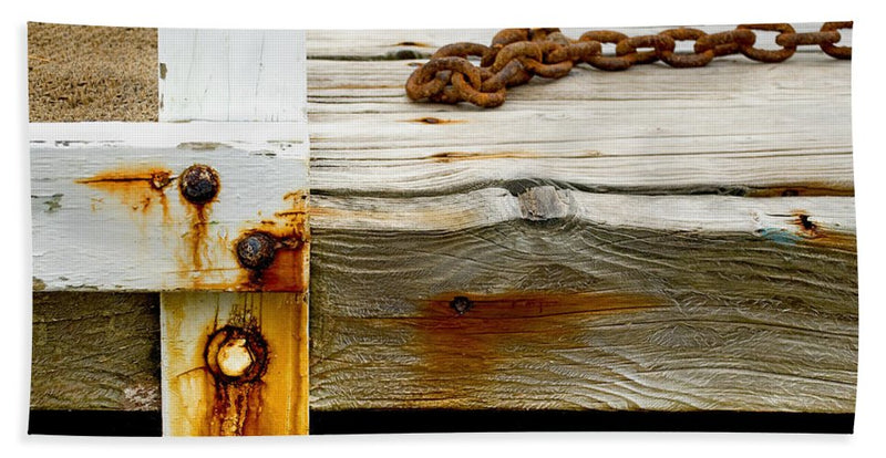 Abstract Old Swim Dock - Beach Towel