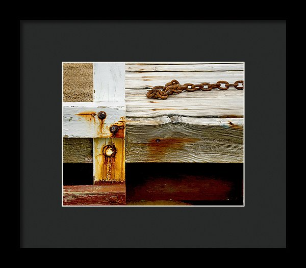 Abstract Dock - Framed Print