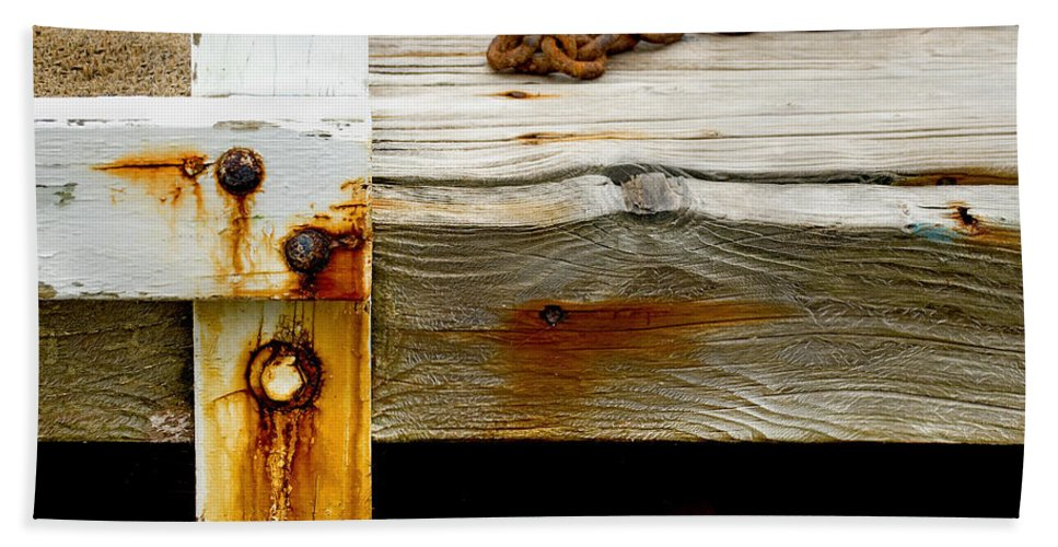 Abstract Old Swim Dock - Bath Towel