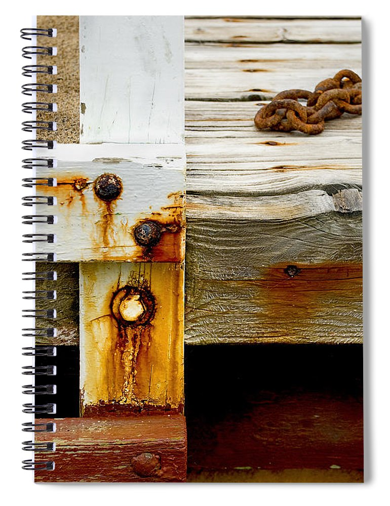 Abstract Old Swim Dock - Spiral Notebook