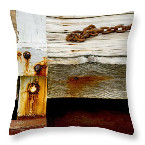 Abstract Old Swim Dock - Throw Pillow
