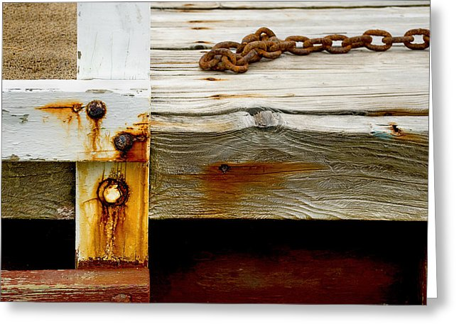 Abstract Dock - Greeting Card