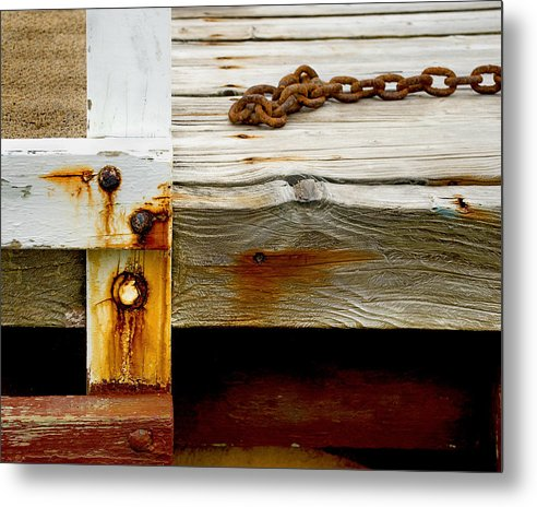 Abstract Old Swim Dock - Metal Print