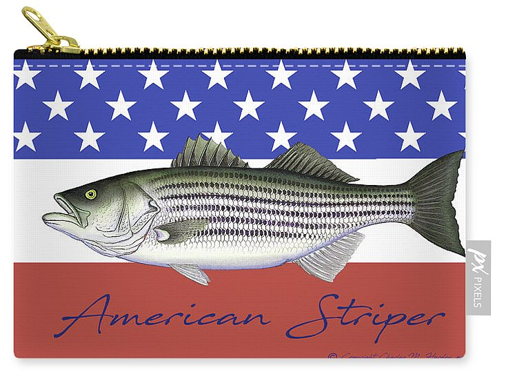American Striper Patriotic Striped Bass - Carry-All Pouch