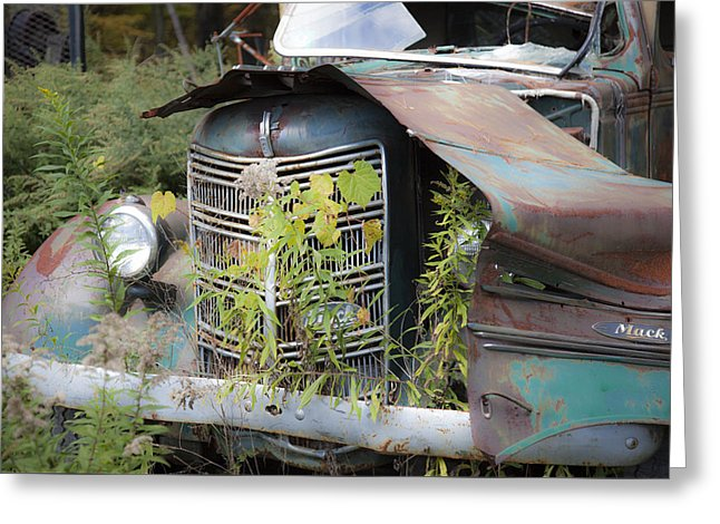 Antique Mack Truck - Greeting Card