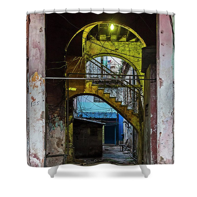 Apartment Entrance Havana Cuba Near Calle C - Shower Curtain