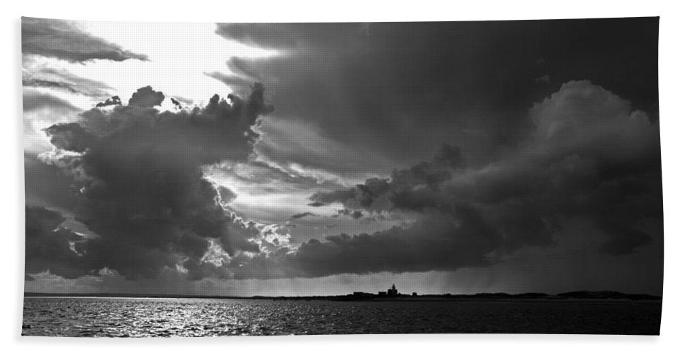 Barnstable Harbor Cloudy Sky - Bath Towel