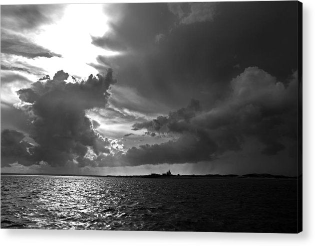 Barnstable Harbor Cloudy Sky - Acrylic Print