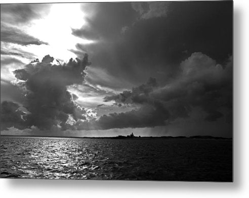 Barnstable Harbor Cloudy Sky - Metal Print