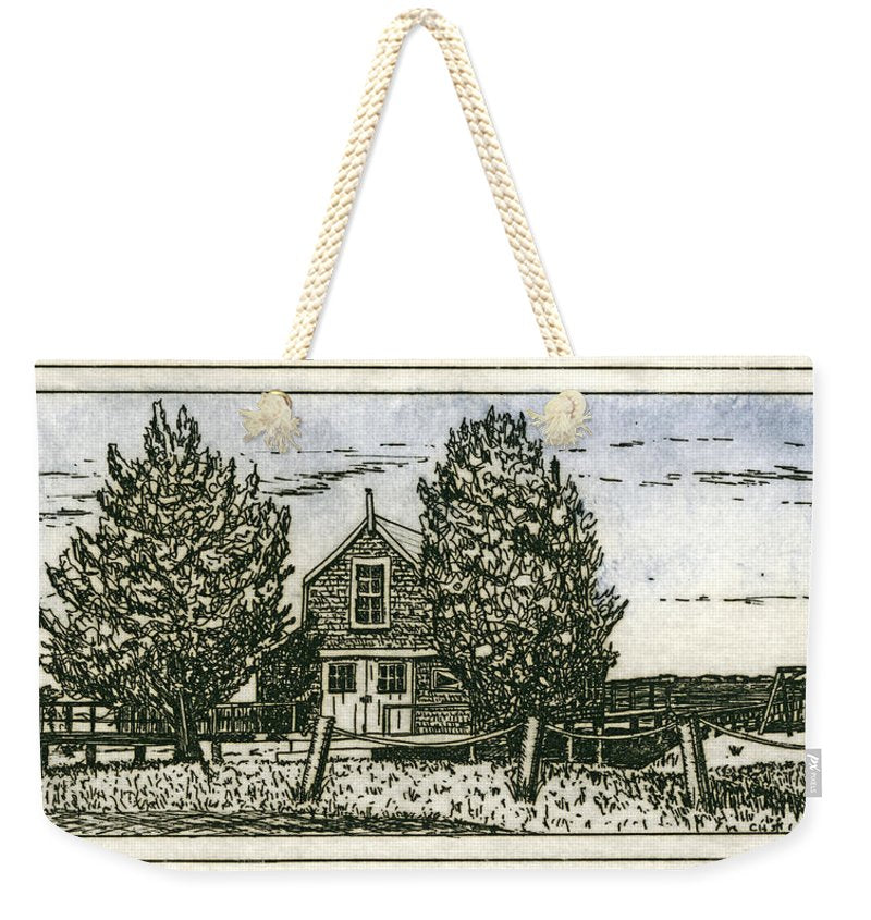 Barnstable Yacht Club Etching - Weekender Tote Bag