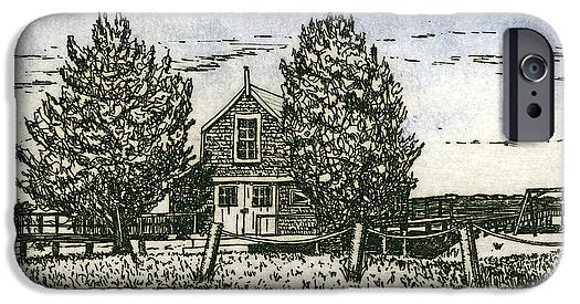 Barnstable Yacht Club Etching - Phone Case