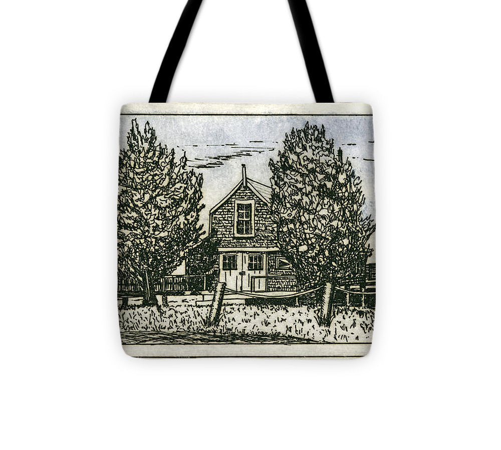 Barnstable Yacht Club Etching - Tote Bag