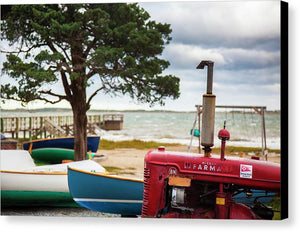 Barnstable Yacht Club Off Season Scene - Canvas Print