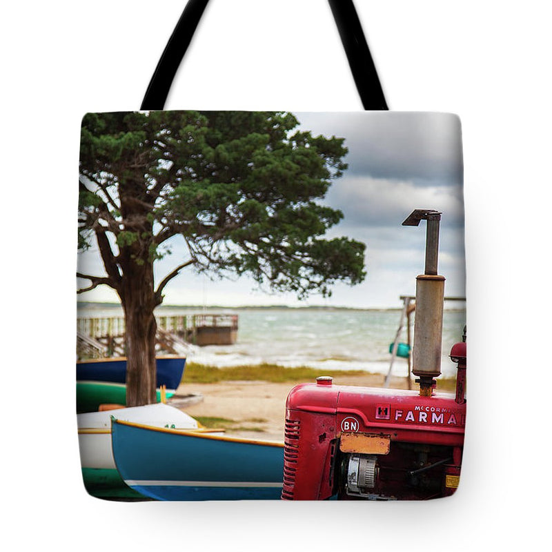 Barnstable Yacht Club Off Season Scene - Tote Bag