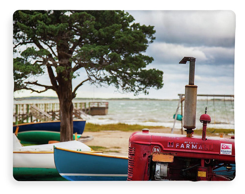 Barnstable Yacht Club Off Season Scene - Blanket