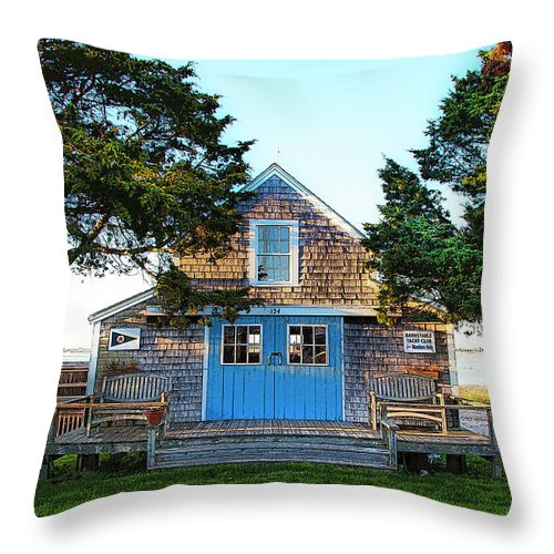 Barnstable Yacht Club Posterized - Throw Pillow