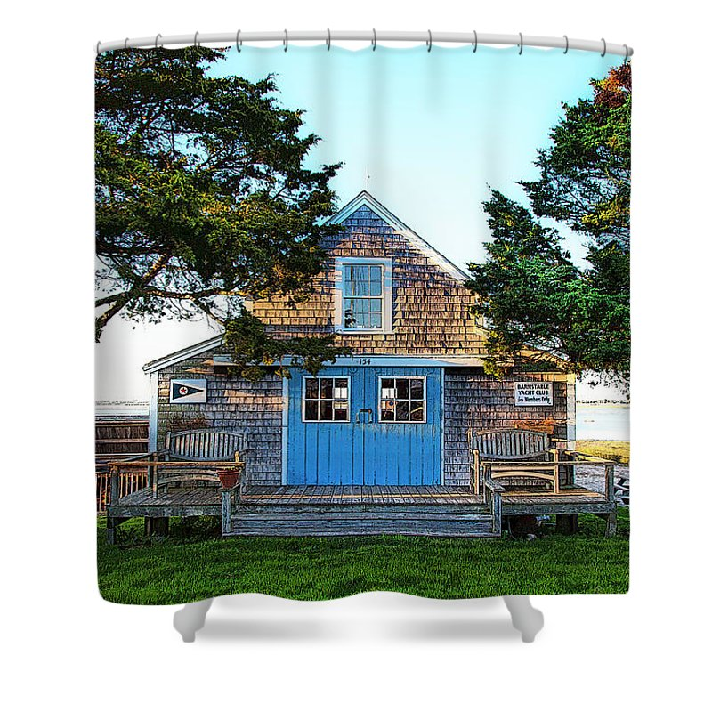 Barnstable Yacht Club Posterized - Shower Curtain