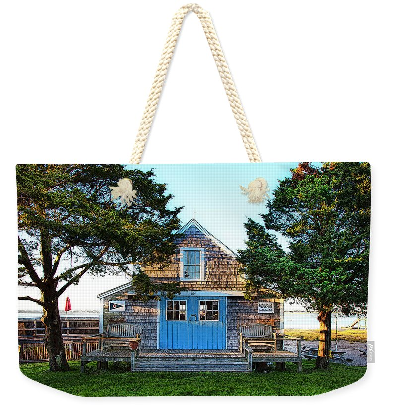 Barnstable Yacht Club Posterized - Weekender Tote Bag
