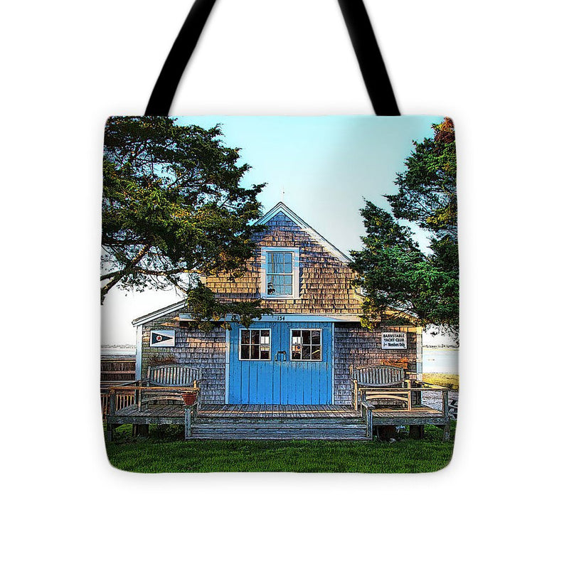 Barnstable Yacht Club Posterized - Tote Bag