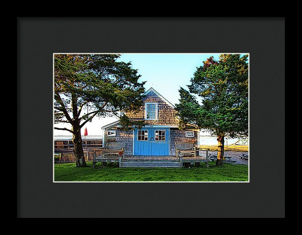 Barnstable Yacht Club Posterized - Framed Print