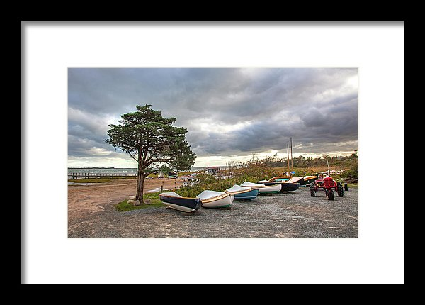 Barnstable Yacht Club Seasons Over - Framed Print