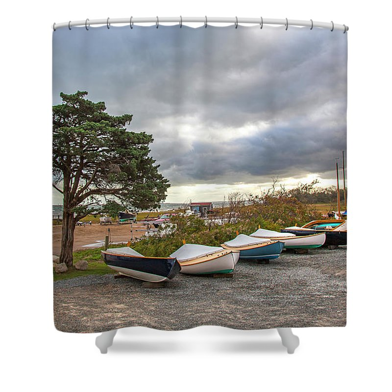 Barnstable Yacht Club Seasons Over - Shower Curtain