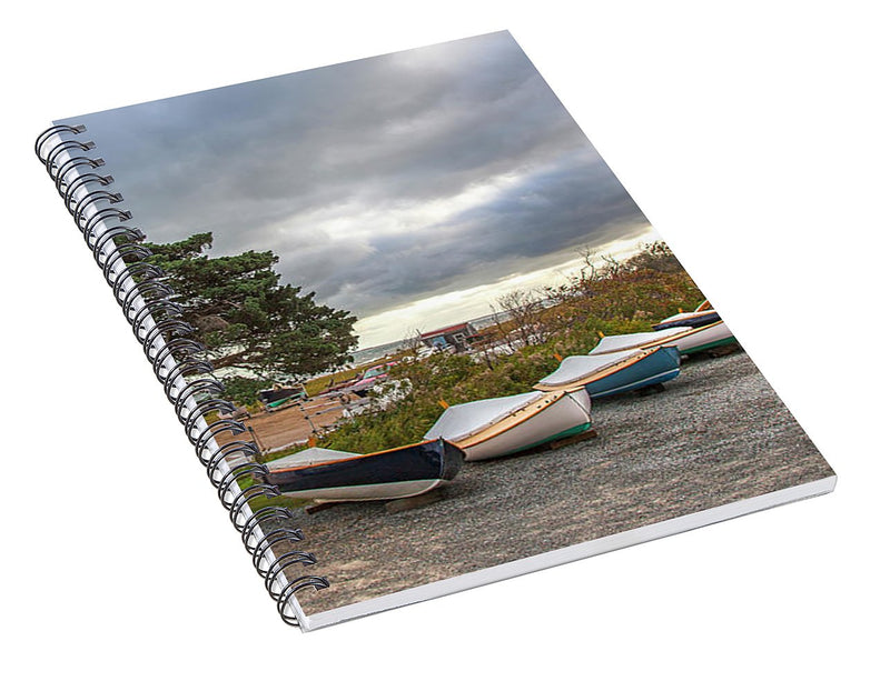 Barnstable Yacht Club Seasons Over - Spiral Notebook